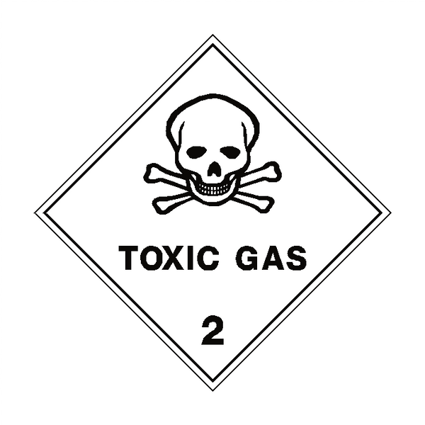 Toxic Gas 2 Label - Safety-Label.co.uk