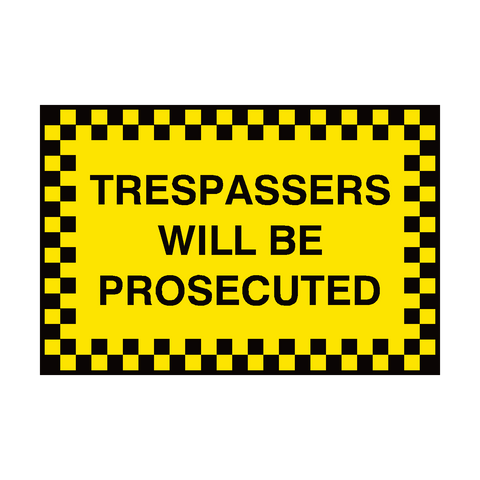 Trespassers Security Sign | PVC Safety Signs | Health and Safety Signs