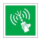 Two-Way VHF Radio Telephone Apparatus Symbol Sign | Safety-Label.co.uk