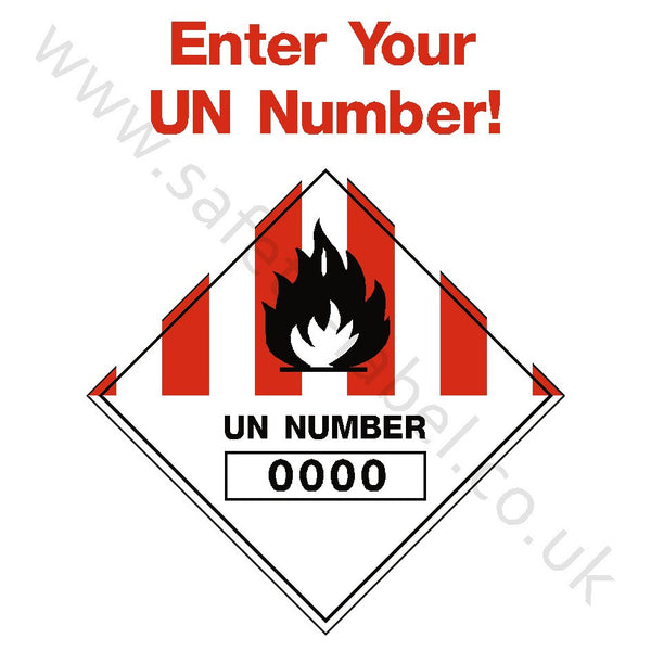 Custom UN Number Hazchem Sign | Safety-Label.co.uk
