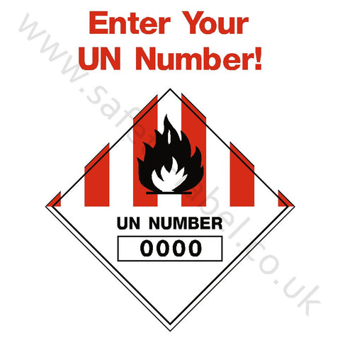 Custom UN Number Hazchem Sign - Safety-Label.co.uk