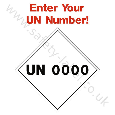 UN Number Sign - Safety-Label.co.uk