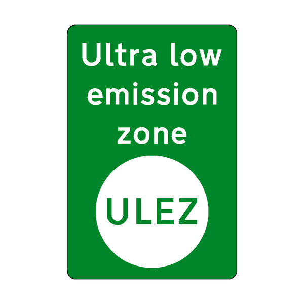 ULEZ Green Zone Sticker | Safety-Label.co.uk