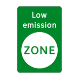 Low Emission Green Zone Sticker - Safety-Label.co.uk