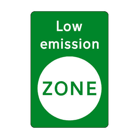 Low Emission Green Zone Sticker
