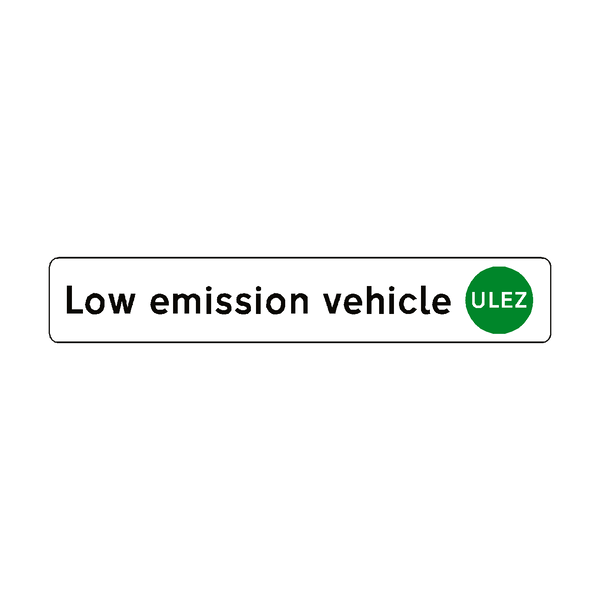ULEZ Low emission vehicle sticker | Safety-Label.co.uk