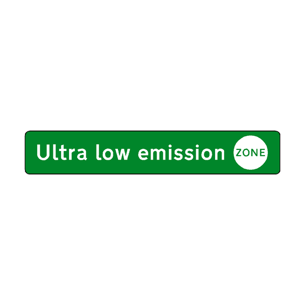 Ultra low emission zone label | Safety-Label.co.uk
