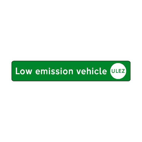 Low emission vehicle sticker