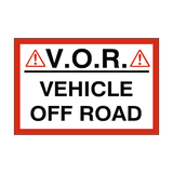 Vehicle Off Road Sign | Safety-Label.co.uk