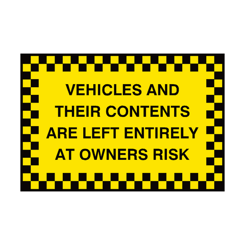 Vehicle Contents Security Sign | PVC Safety Signs | Health and Safety Signs