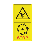 Wait Until Machine Components Have Stopped Sticker | Safety-Label.co.uk