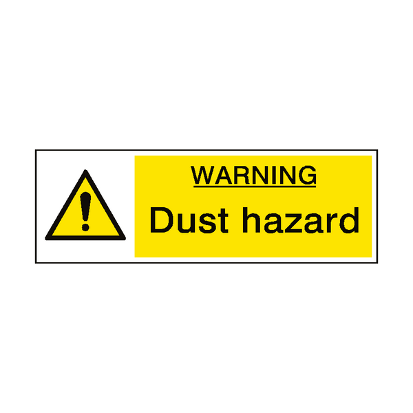 Warning Dust Hazard Sign - Safety-Label.co.uk