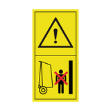 Warning Stay Clear Of Gate Swinging Area Sticker | Safety-Label.co.uk