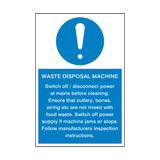 Waste Disposal Machine Mandatory Sign | Safety-Label.co.uk