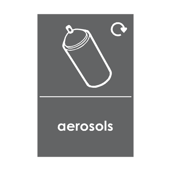 Aerosols Waste Recycling Signs - Safety-Label.co.uk