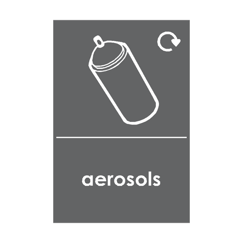 Aerosols Waste Recycling Sticker - Safety-Label.co.uk