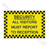 All Visitors Reception Sticker | Safety-Label.co.uk