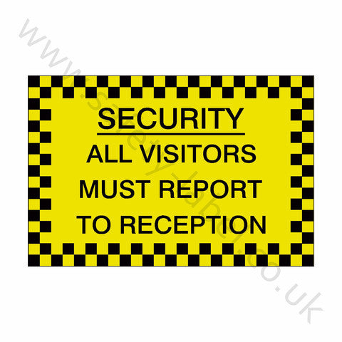 All Visitors Reception Sticker - Safety-Label.co.uk