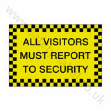 All Visitors Security Sticker | Safety-Label.co.uk