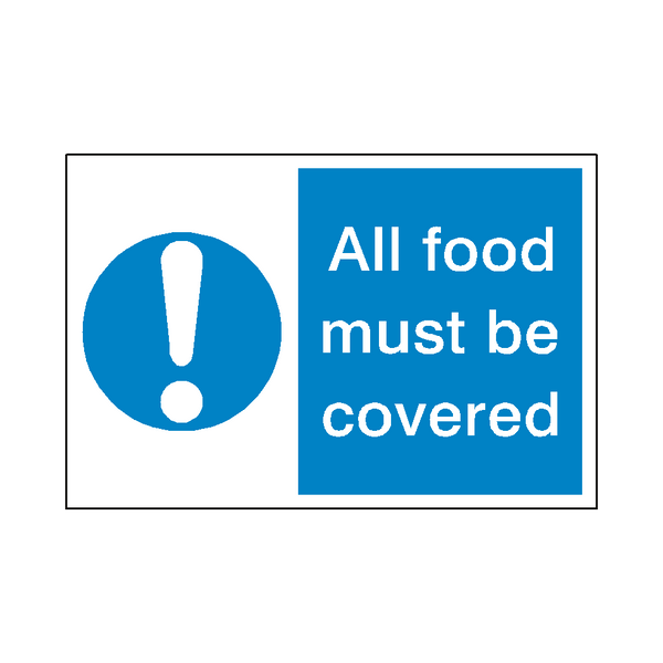 Food Covered Sticker | Safety-Label.co.uk