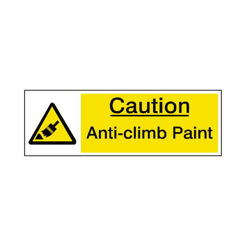 Anti Climb Paint Safety Sign - Safety-Label.co.uk