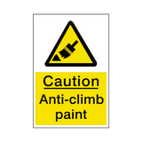 Anti Climb Paint Hazard Sign - Safety-Label.co.uk