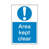Area Kept Clear Mandatory Sign | Safety-Label.co.uk