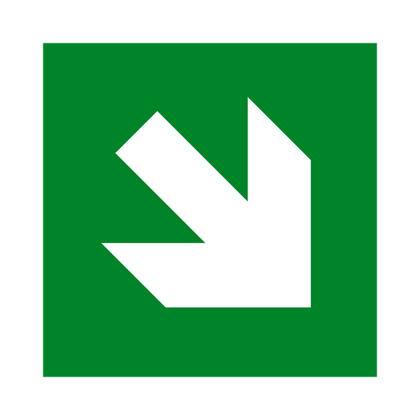 Arrow Down Right Sign - Safety-Label.co.uk