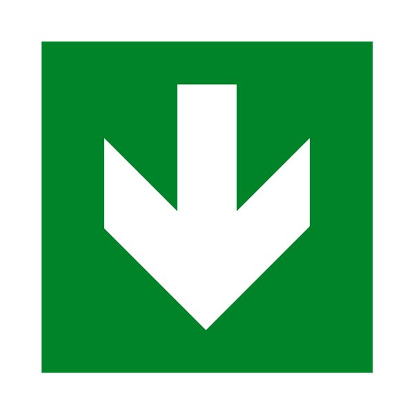 Arrow Down Sign | Safety-Label.co.uk