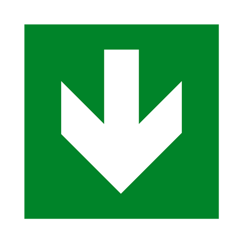 Arrow Down Sign - Safety-Label.co.uk