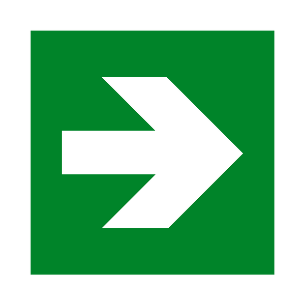 Arrow Right Sign - Safety-Label.co.uk