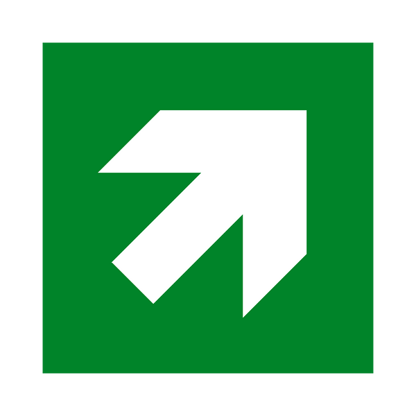 Arrow Up Right Sign - Safety-Label.co.uk