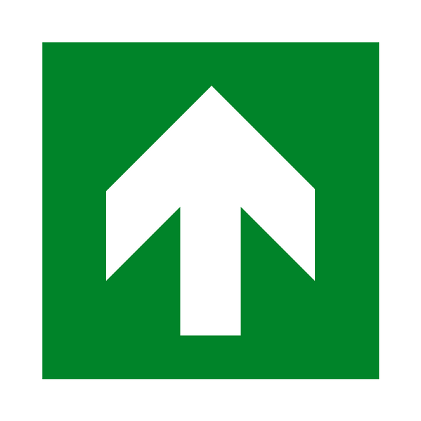 Arrow Up Sign - Safety-Label.co.uk