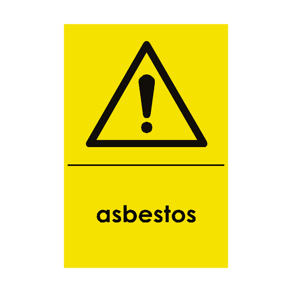 Asbestos Hazardous Waste Recycling Sticker - Safety-Label.co.uk