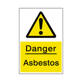 Asbestos Hazard Sign | Safety-Label.co.uk