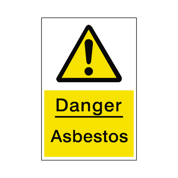 photograph about Free Printable Warning Signs identify Asbestos Chance Indication