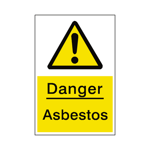 Asbestos Hazard Sign - Safety-Label.co.uk