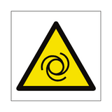 Automatic Start Up Hazard Symbol Sign | Safety-Label.co.uk