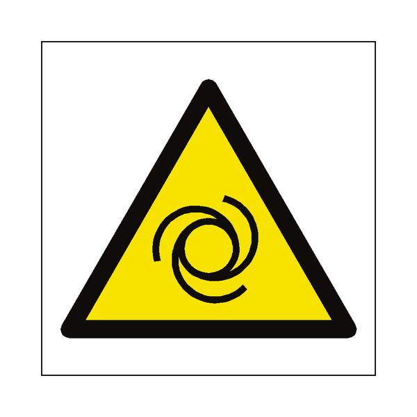 Automatic Start Up Hazard Symbol Sign - Safety-Label.co.uk