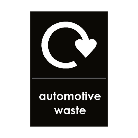 Automotive Waste Sticker - Safety-Label.co.uk