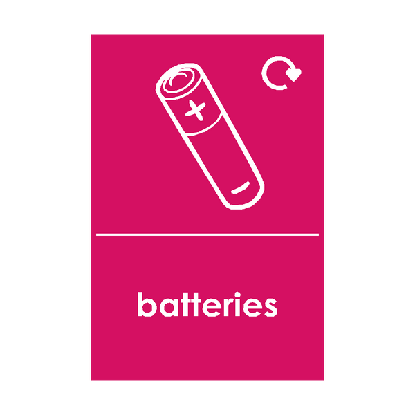 Batteries Waste Sign | Safety-Label.co.uk