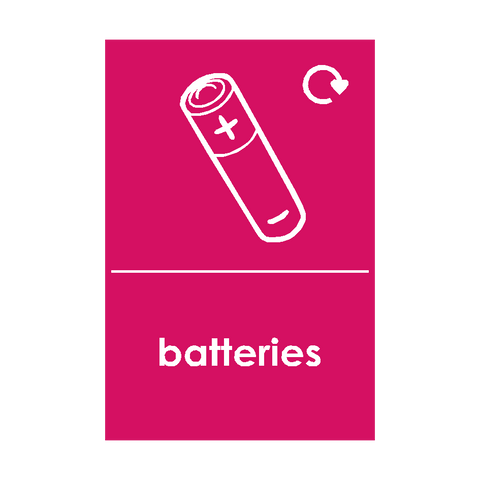 Batteries Waste Sign - Safety-Label.co.uk