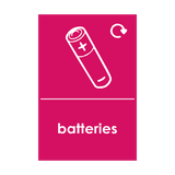 Batteries Waste Sticker | Safety-Label.co.uk