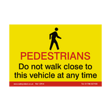 Pedestrian CrossRail Safety Sign | Safety-Label.co.uk