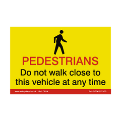 Pedestrian CrossRail Safety Sign - Safety-Label.co.uk