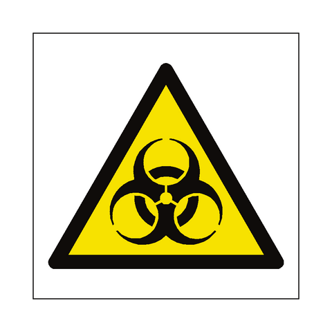 Biological Hazard Symbol Label - Safety-Label.co.uk
