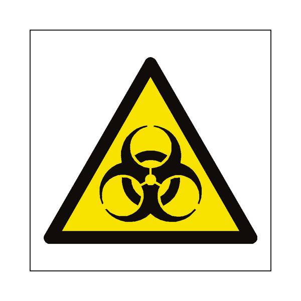Biological Hazard Symbol Sign | Safety-Label.co.uk