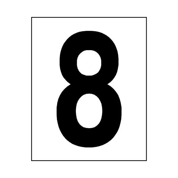 Number 8 Sticker Black | Safety-Label.co.uk