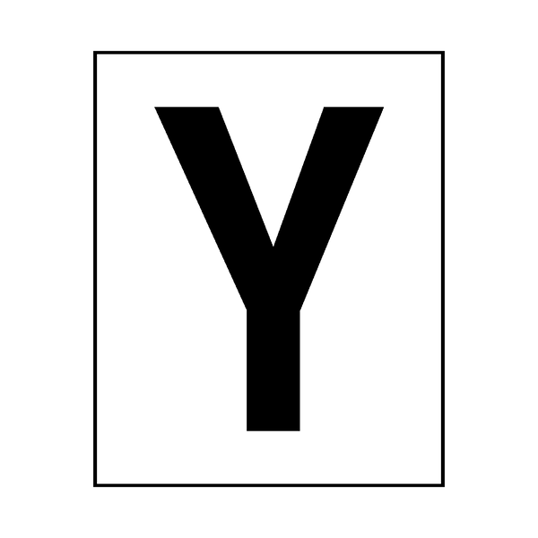 Letter Y Sticker Black | Safety-Label.co.uk