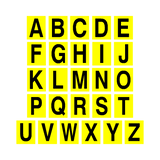 Yellow Alphabet Letter Sticker Pack | Safety-Label.co.uk